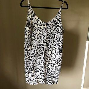 Topshop mini leopard dress